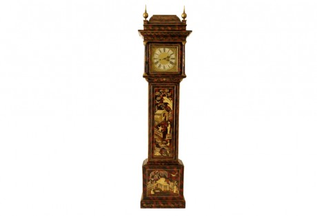 George I Chinoiserie Tall Case Clock