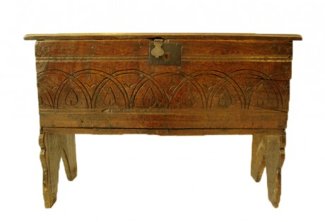 17th c. Boarded Oak Coffer